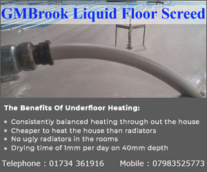 GMBrook liquid Floor Screeds