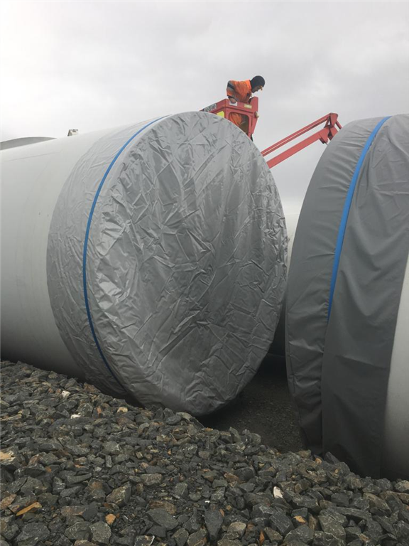PVC Protective Covers for Transporting Wind Turbines. Gallery Image