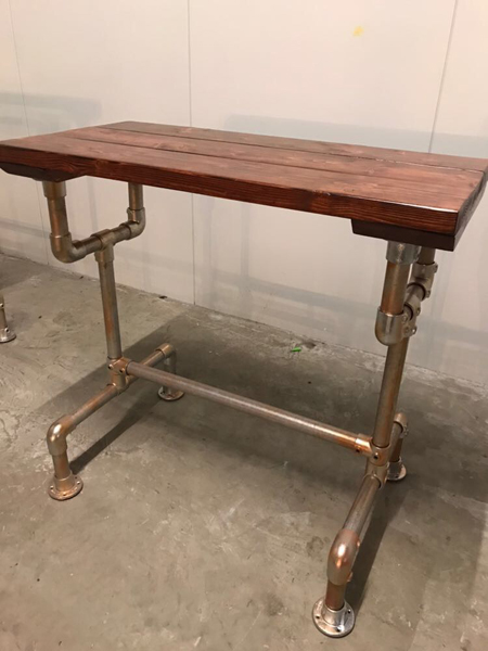 Table made from Pipeclamps Gallery Image