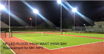 Tennis Court Club Lighting Upgraded to  LED lighting specifically designed High Powered LED Modules.  Gallery Thumbnail