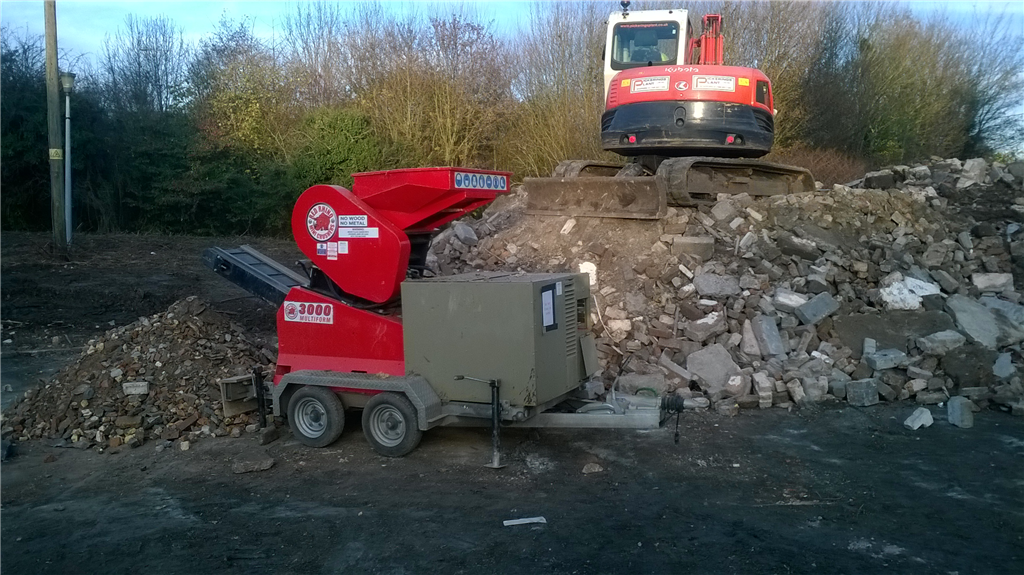 Trailer mounted Red Rhino 3000 on site Gallery Image