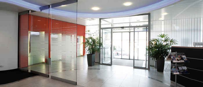 Entrance solutions that maximise natural light and make the right first impression. Gallery Image