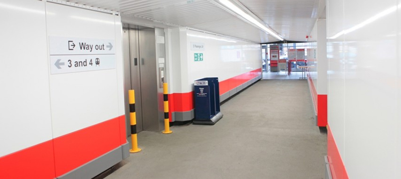 An interesting feature of this contract is the requirement for the Cladding Panels to be Demountable to allow for regular inspection of the subway structure behind. Gallery Image