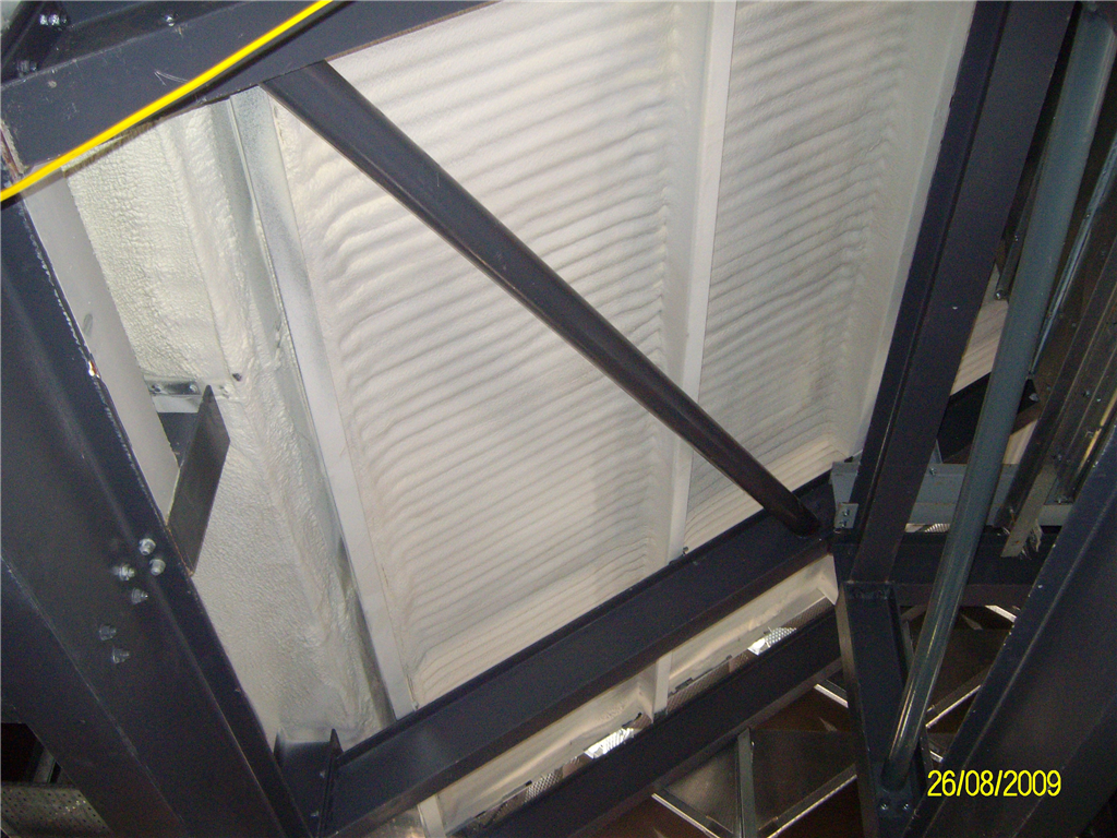 Underside application to an industrial cladded roof. Gallery Image