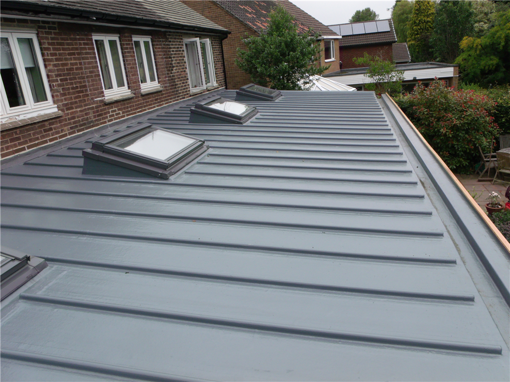 Topseal GRP system with simulated lead roll details. Gallery Image