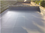 Topseal GRP system, on bathroom/bedroom extension, with warm roof-deck insulation. Gallery Thumbnail