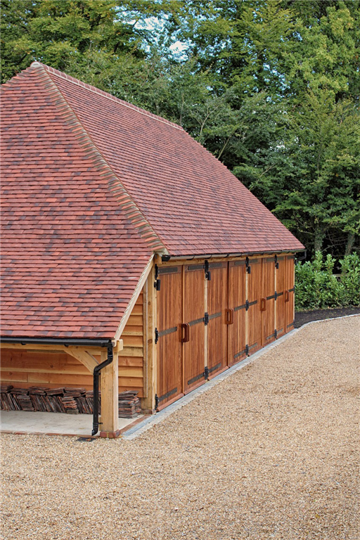 Four bay fully hipped timber framed barn garage Gallery Image