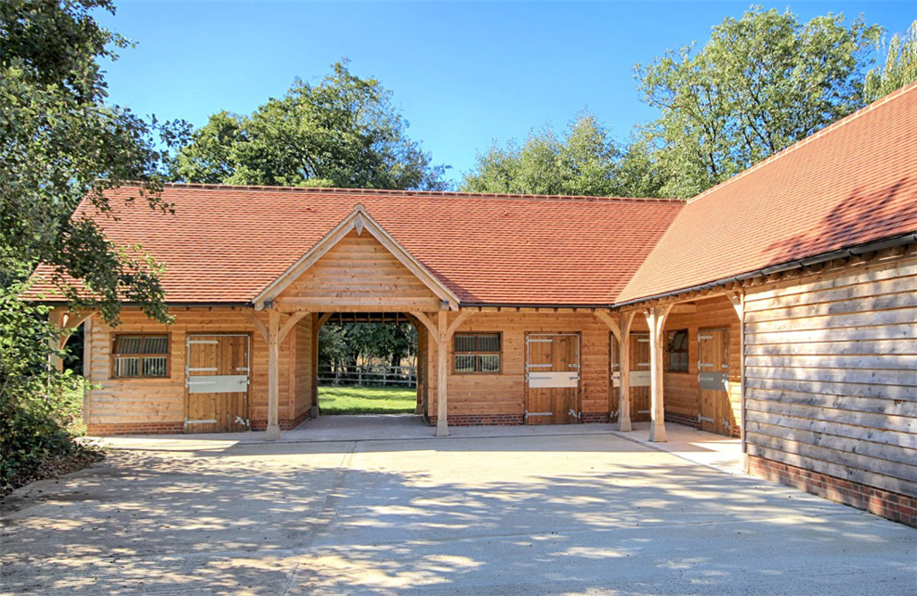 Oak framed stable block building complex in Hampshire. Gallery Image