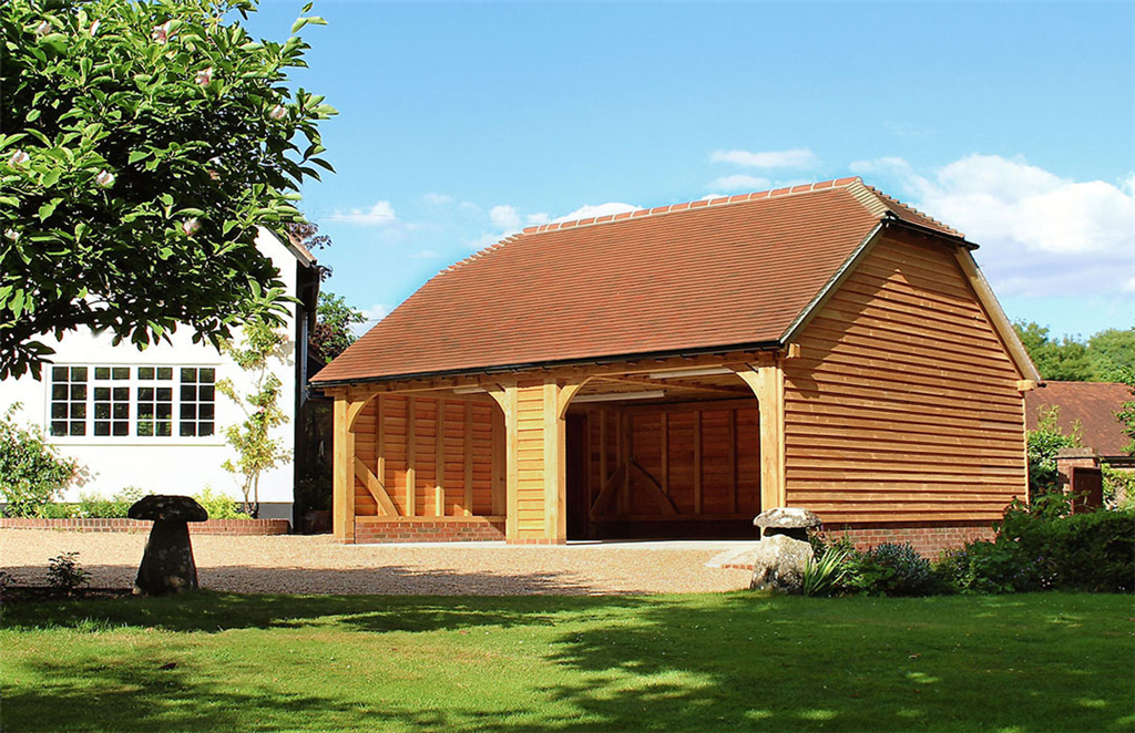 Two bay oak garage in Hampshire Gallery Image