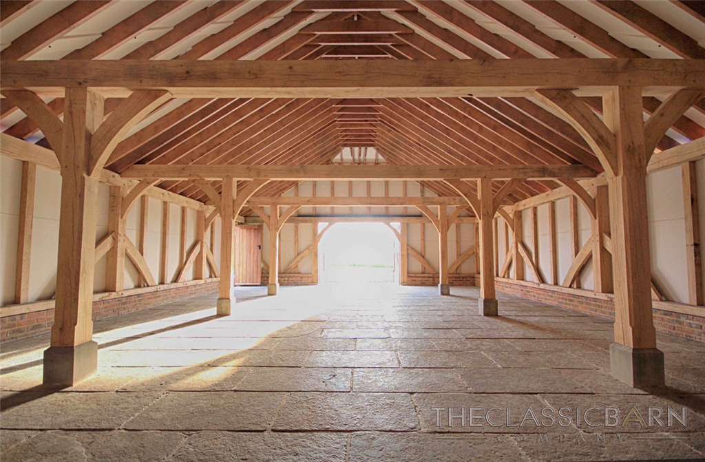 A glimpse inside our award winning oak framed barn buildings. Gallery Image