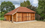 Double oak framed garage in Hampshire, UK. Gallery Thumbnail
