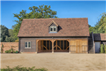 4 bay oak framed building with external staircase to access accomodation above. Gallery Thumbnail
