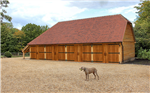 4 bay oak framed garage building. Gallery Thumbnail
