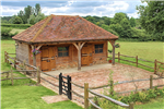 Traditional style oak framed stables with tiled roof. Gallery Thumbnail