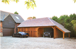 3 bay oak garage barn. Gallery Thumbnail