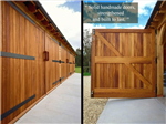 Handmade oak garage doors. Gallery Thumbnail