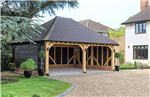 Open oak framed car port building. Gallery Thumbnail