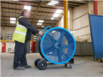 Bluemax 950 Industrial fan. available for hire at £99.50 per week ex carriage and vat.