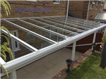 Our new range of glass verandas also available with Victorian posts and spandrils. This option is in white but can be powdercoated to any RAL colour of your choice. Gallery Thumbnail