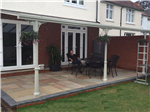 Veranda 7m wide x 3.5m deep fitted with polycarbonate and Victorian upgrade in Southampton. Gallery Thumbnail