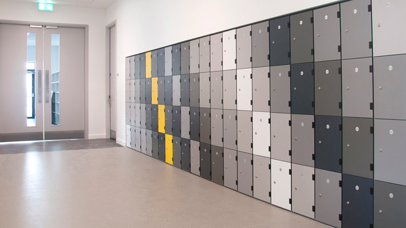 Laminate door lockers Gallery Image