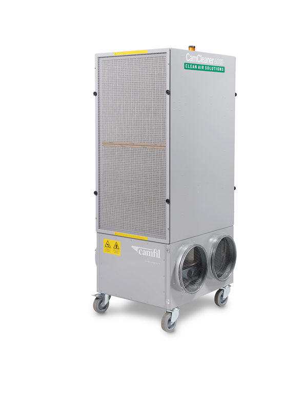 CC 6000 is an Industrial Air Cleaner used in Warehouse and manufacturing environments. Use of HEPA filtration ensures the cleanest air Gallery Image