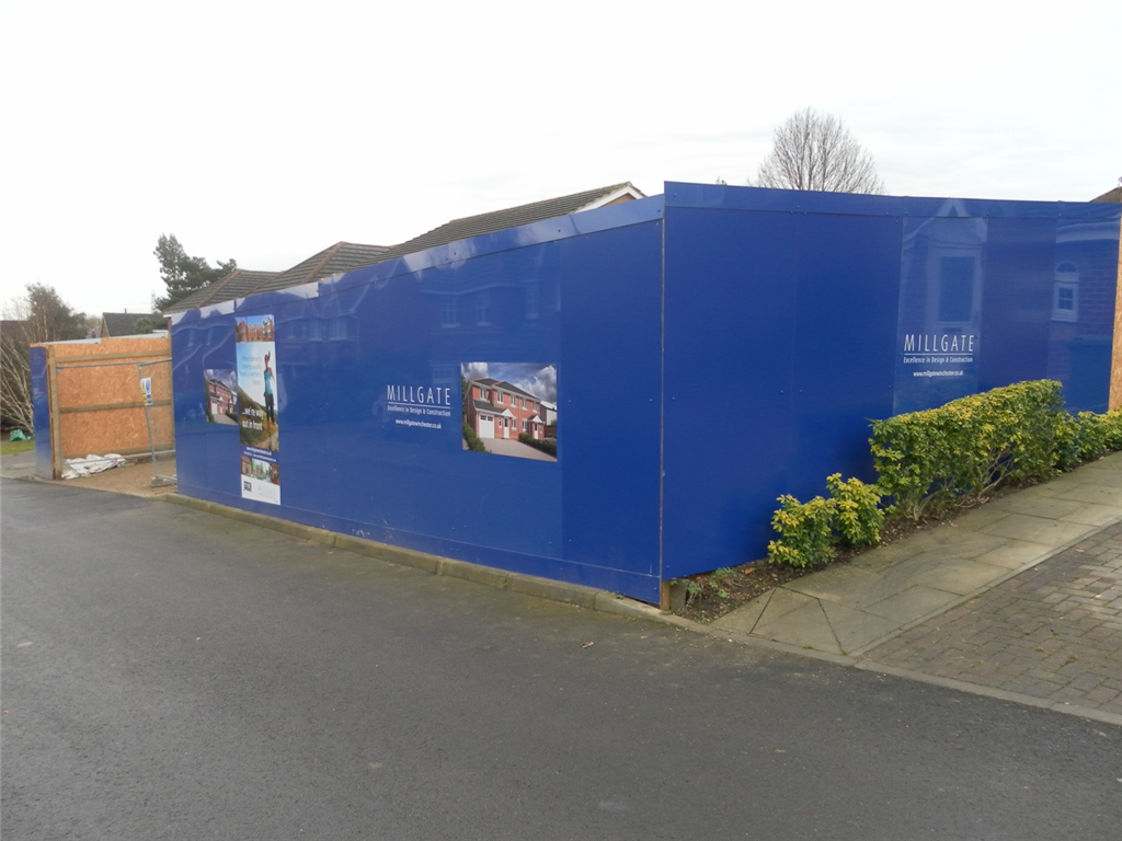 Winchester Hampshire Construction hoarding graphics for development and building companies Gallery Image