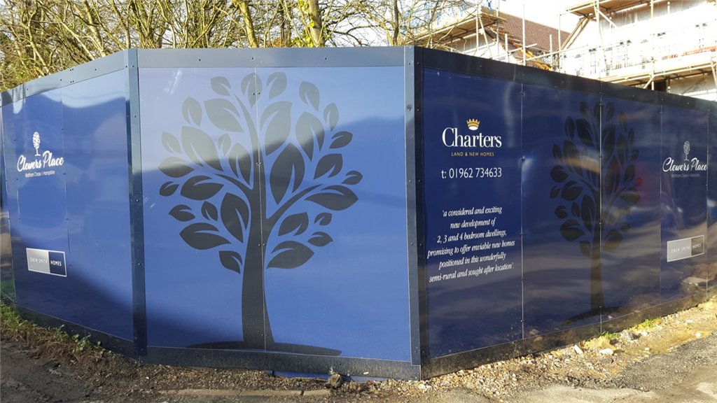 Hampshire Construction hoarding graphics for development and building companies Gallery Image