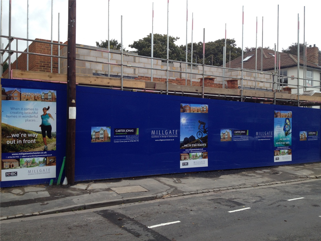 Construction hoarding graphics for development and building companies Gallery Image