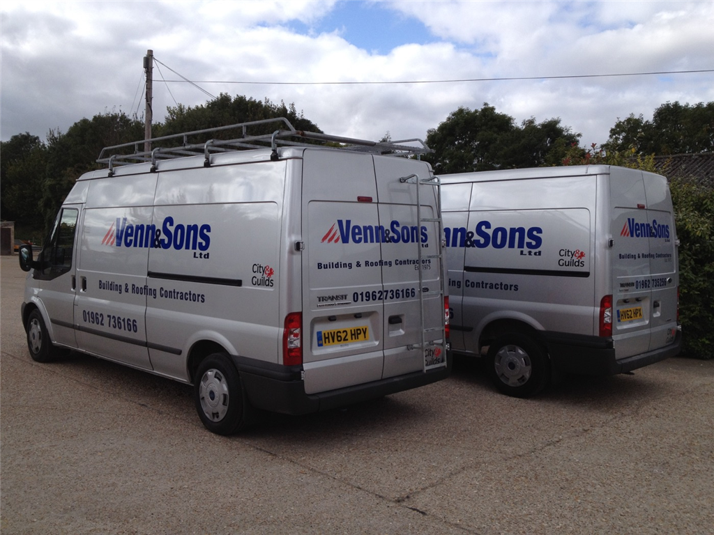 Tradesman Van vehicle livery graphics sign writing Gallery Image