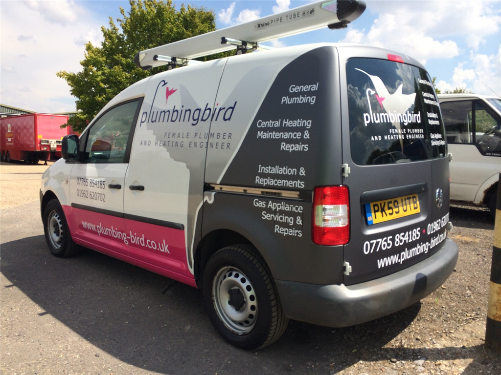 plumbers trade Van vehicle livery graphics sign writing Gallery Image