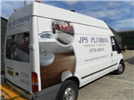 Trade workers Van vehicle livery graphics sign writing Gallery Thumbnail