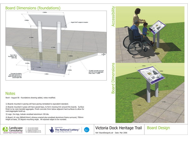 2B were appointed to help design and manage the installation of a heritage trail on Victoria Dock in Hull.3D drawings clearly explained the design intention to planners, consultees, contractor and clients. Gallery Image