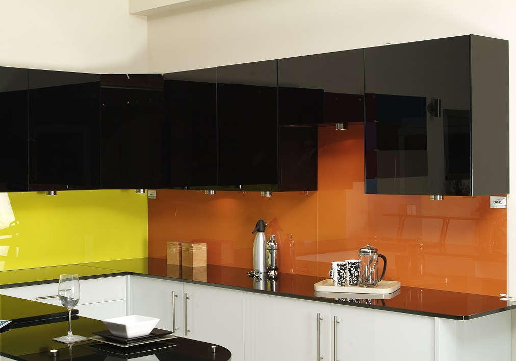 Two Colour Glass Splashback Gallery Image