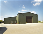 Insulated Potato Store with Workshop & Office Lean-to. Built in partnership with Marrison Agriculture Ltd. Site in Norfolk. Gallery Thumbnail