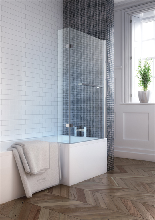 P Shaped Bath With Side Panel  Gallery Image