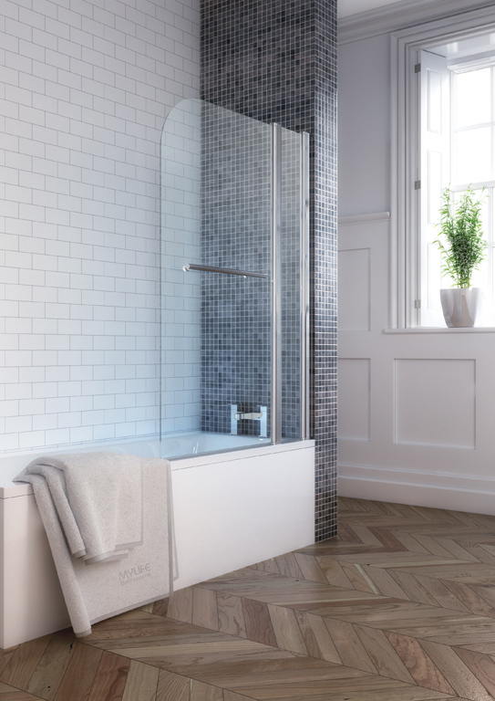 L Shaped Bath With Side Panel Gallery Image
