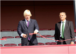 "Boris Johnson - Cuts Tape ""Grand Opening - Streatham-Croydon Rugby Football Club"" Gallery Thumbnail"