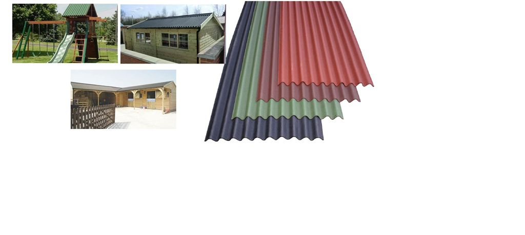 Onduline is an extremely tough, lightweight, corrugated roofing and wallcladding material manufactured utilising a base board produced from recycled cellulose fibres which is saturated with bitumen under intense pressure and heat. Gallery Image