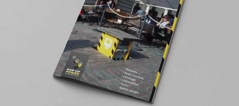Request a copy of our brochure today - it contains information on our Pop Up Power Units, Flip Lid Units and Power Bollards Gallery Image