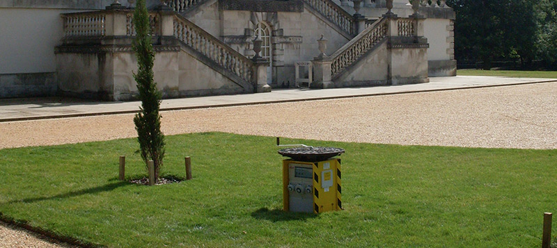 Pop Up Power Unit providing a safe and secure outdoor power source for Chiswick House Gallery Image
