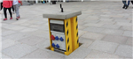 Retractable Service Units provide a safe power supply for outdoor public places. Gallery Thumbnail
