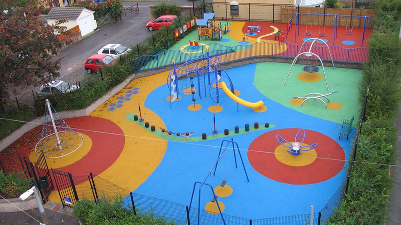 Colourful Safety Surfacing Design Gallery Image