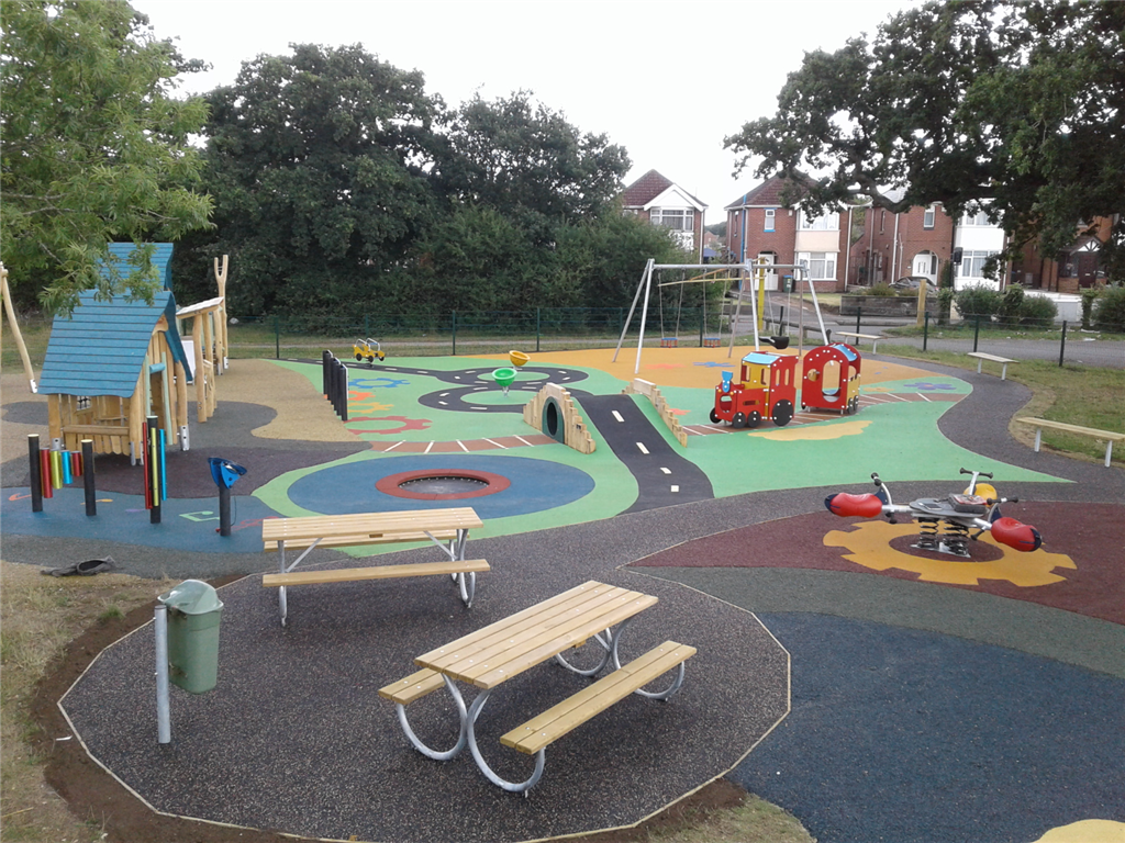 Wet Pour, Rubber Mulch & Enviro-Pave Play Area Gallery Image