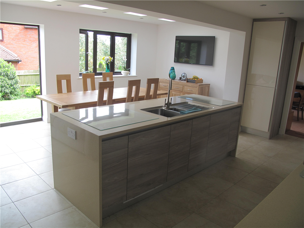 New open plan kitchen with dining area extension Gallery Image