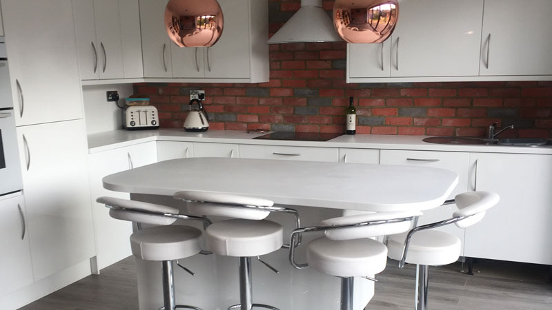Premier Red & Grey Brick Slips - Used For A Kitchen Splashback. Gallery Image