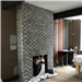 Our Stormy Sky Brick Slips used on a fireplace. Gallery Thumbnail