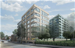 Caledonian Wharf mixed use development in London - structural glazing for Ridgeway Gallery Thumbnail