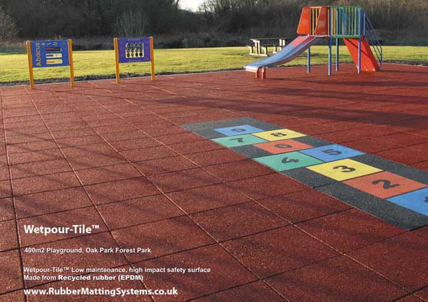 wet pour - tile - rubber matting systems - inclusive  playground Gallery Image