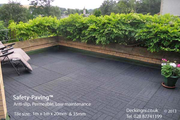non slip balcony  - Safety Paving - roof terrace -Scotland Gallery Image